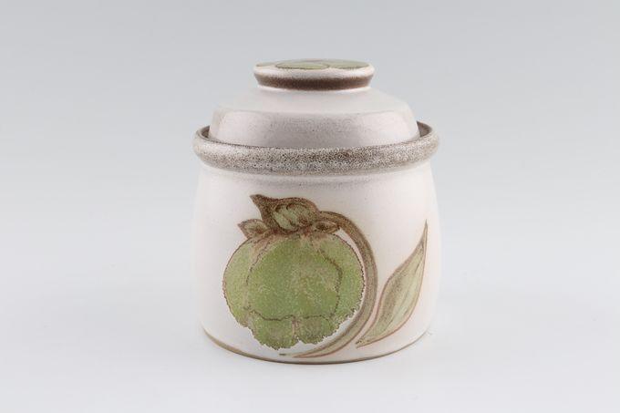 "Denby Troubadour Sugar Bowl - Lidded (Tea) No Handles - Also Jam Pot 3 5/8 x 3 1/8"""