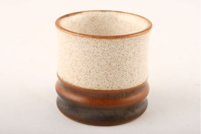 Denby Potters Wheel - Tan Centre Egg Cup Note; Widths and colour depth vary in each egg cup. 1 7/8 x 1 7/8""