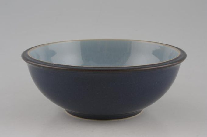 """Denby Blue Jetty Oatmeal / Cereal / Soup Blue 7"""""""