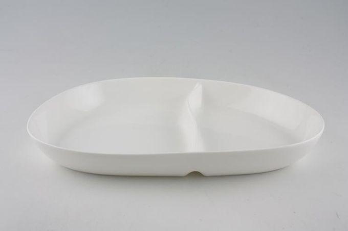 """Denby China by Denby Serving Dish Divided, Irregular shape - 2 1/4pt 13 3/4"""""""