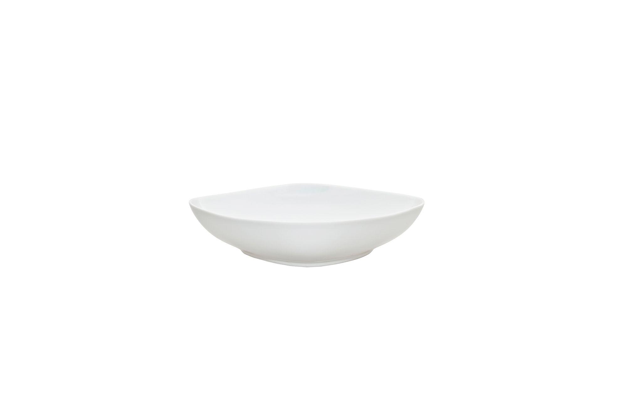"""Denby White Squares Pasta Bowl 8 1/2"""" thumb 1"""
