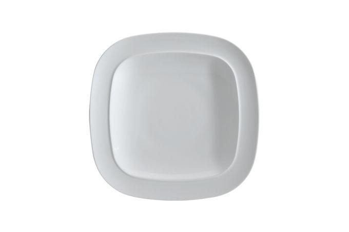 """Denby White Squares Dinner Plate 11 1/2"""""""