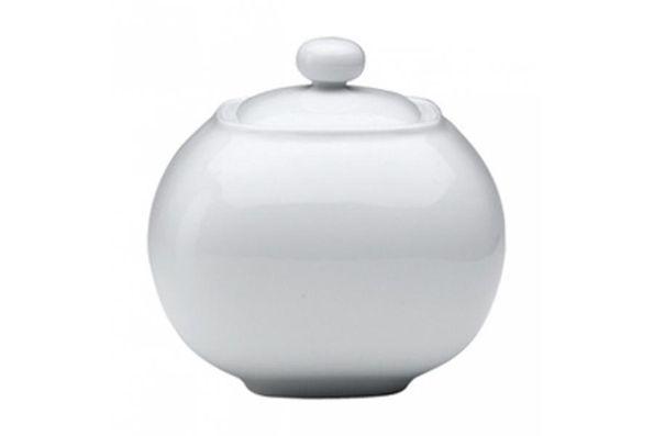 Denby White Squares Sugar Bowl - Lidded (Tea)
