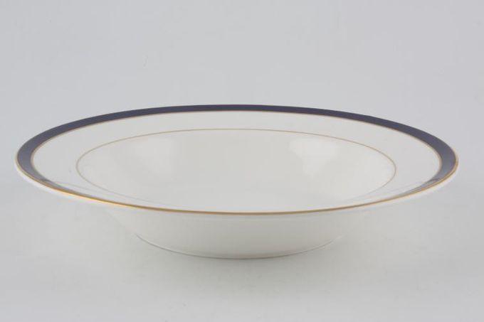 "Duchess Warwick - Blue Rimmed Bowl 8 5/8"""