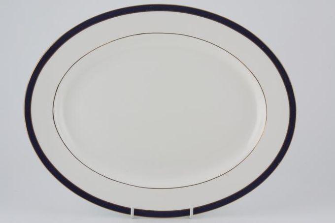 "Duchess Warwick - Blue Oval Plate / Platter 13 3/8"""
