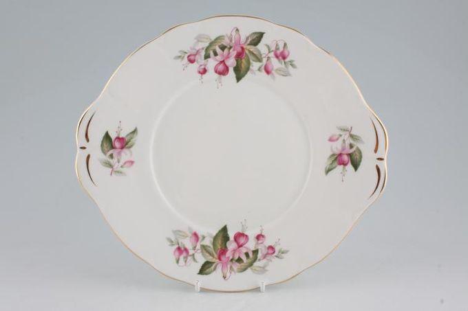 "Duchess Fuchsia Cake Plate eared 10 1/8"""