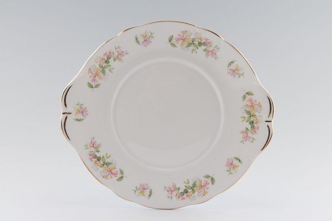 """Duchess Honeysuckle Cake Plate Round 10 1/4"""""""