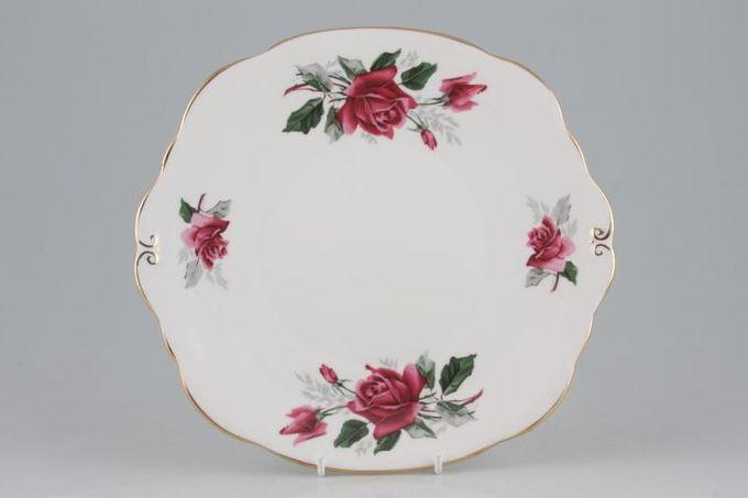 "Duchess Pandora Cake Plate eared, square 9 1/4"""