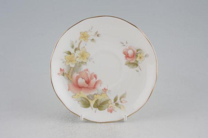 "Duchess Peach Rose Tea Saucer 5 5/8"""