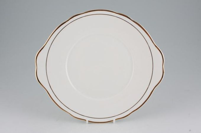 "Duchess Ascot - Gold Cake Plate eared 10 1/8"""