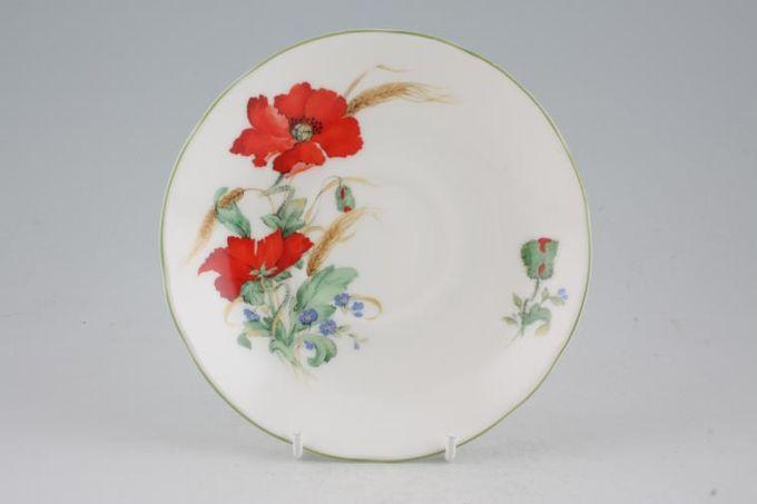 """Duchess Poppies Breakfast Saucer 6 1/8"""""""