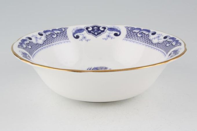 """Duchess Willow - Dark Blue Soup / Cereal Bowl 6 1/2"""""""
