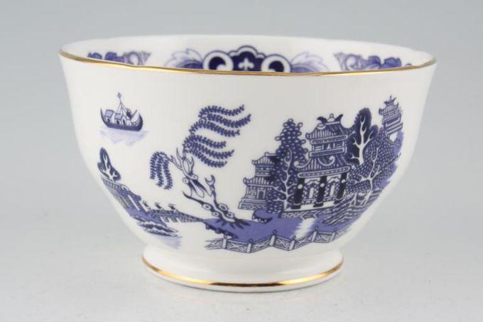 "Duchess Willow - Dark Blue Sugar Bowl - Open (Tea) 4 5/8"""