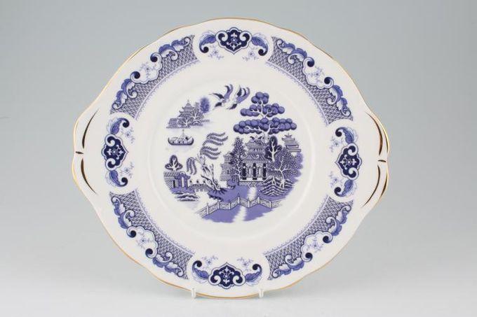 """Duchess Willow - Dark Blue Cake Plate 10 1/4"""""""