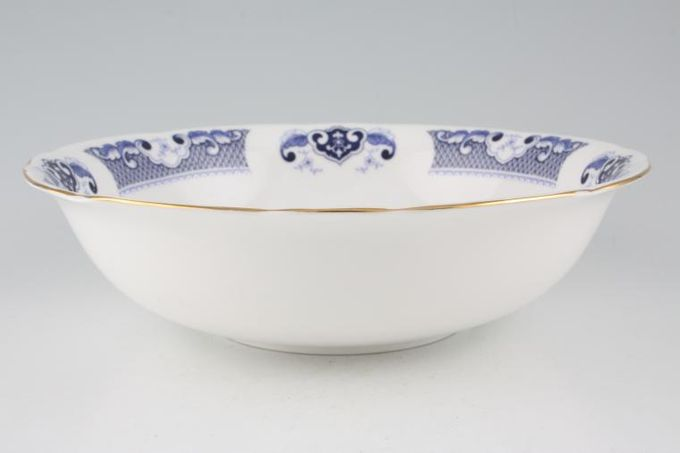 "Duchess Willow - Dark Blue Serving Bowl 9 1/2"""