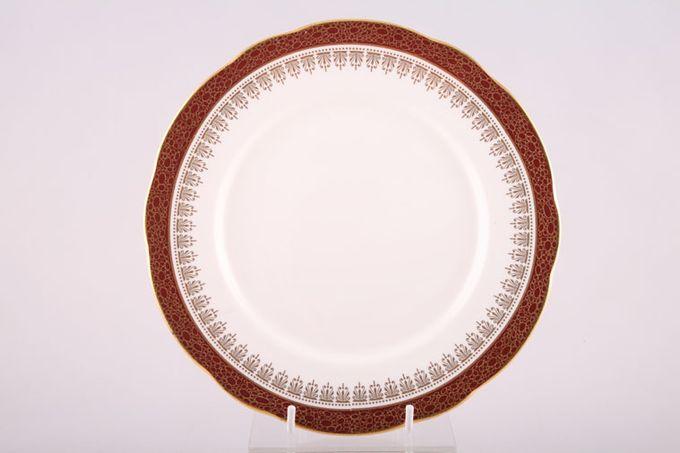 "Duchess Winchester - Burgundy Dinner Plate 10 3/8"""