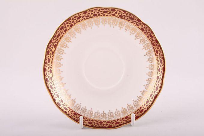 """Duchess Winchester - Burgundy Breakfast Saucer 6"""""""