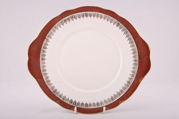 "Duchess Winchester - Burgundy Cake Plate Eared 10"""