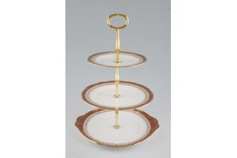 Duchess Winchester - Burgundy Cake Stand 3 Tier