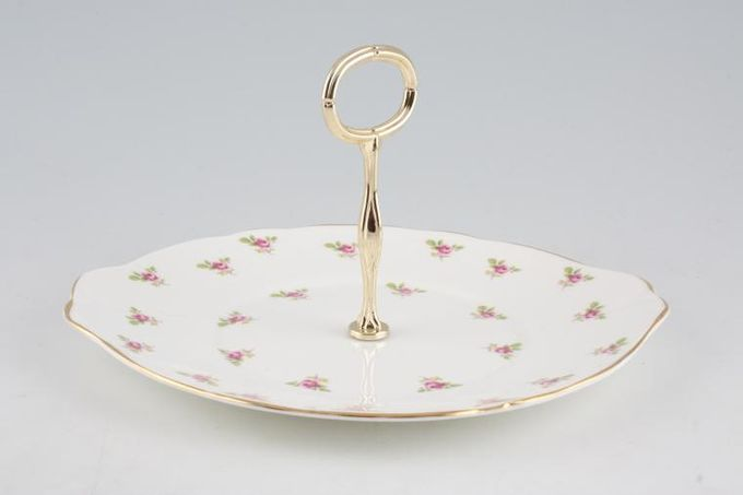 "Duchess Rosebud 1 Tier Cake Stand Eared Cake Plate 10"""