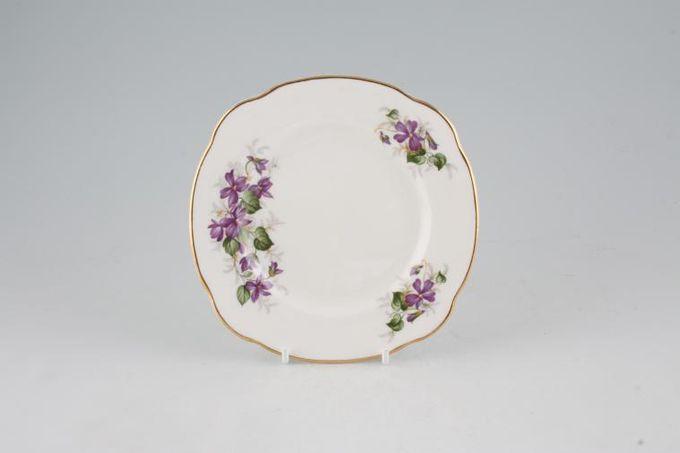 "Duchess Violets Tea / Side Plate Square 6 1/8"""