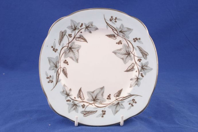 Duchess Blue and white china with brown ivy leaves