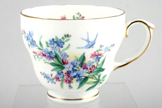 """Duchess Forget - Me - Not Teacup With bird 3 1/2 x 2 7/8"""""""