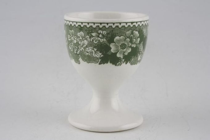 Adams English Scenic - Green Egg Cup Footed