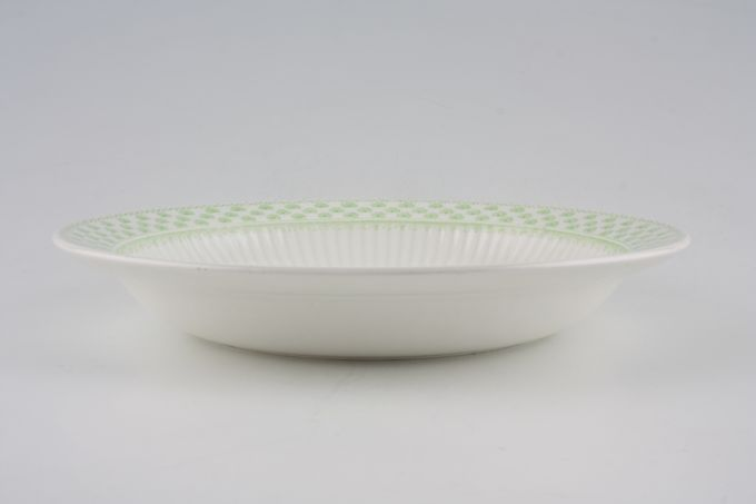 "Adams Shamrock Rimmed Bowl Soup - dessert 7 7/8"""