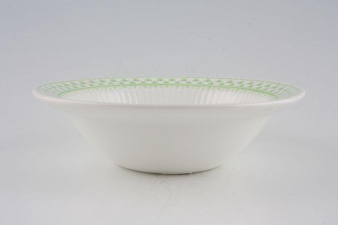 """Adams Shamrock Rimmed Bowl oatmeal - fruit 6 1/4"""""""