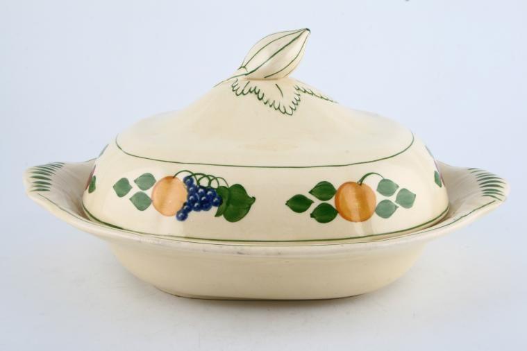 Adams - Fruit I (Titian Ware) - Vegetable Tureen with Lid - Eared