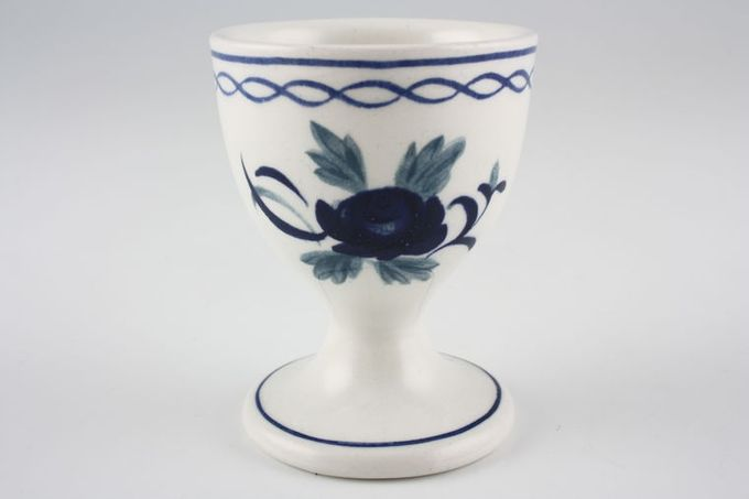 Adams Baltic Egg Cup Footed - Blue Line on Foot 1 7/8 x 2 1/2""
