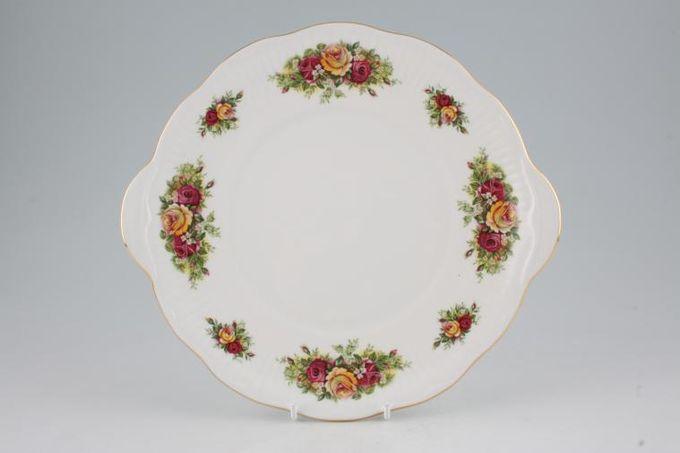 "Elizabethan Rose Garden Cake Plate 10"""