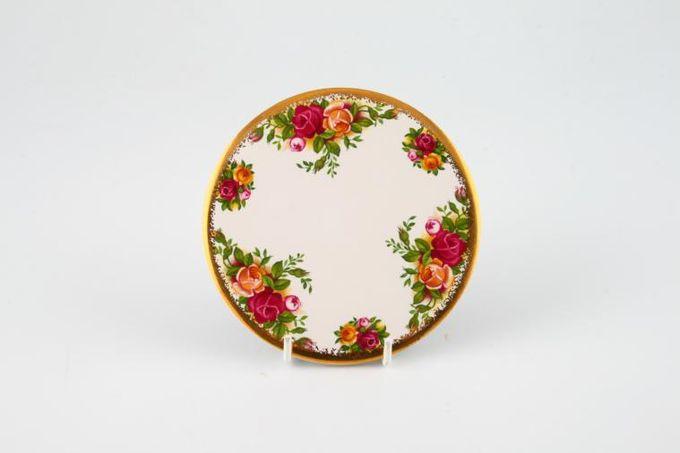 """Elizabethan English Garden Coaster Green blaize back 3 1/2"""""""