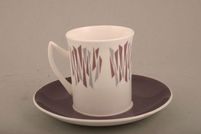 "Elizabethan Kon Tiki Coffee Saucer Purple 5 5/8"""