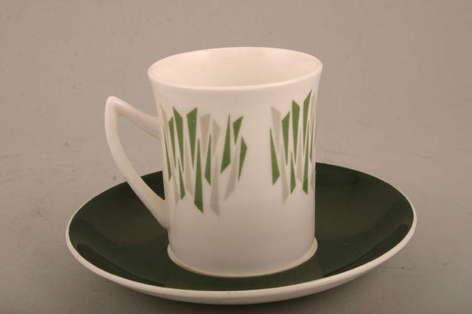 """Elizabethan Kon Tiki Coffee Cup Green 2 3/4 x 3"""""""