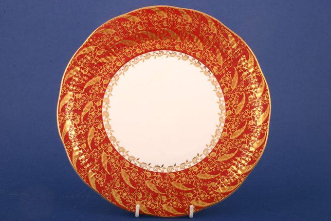"Elizabethan Sovereign - Red Cake Plate 9 1/4"""