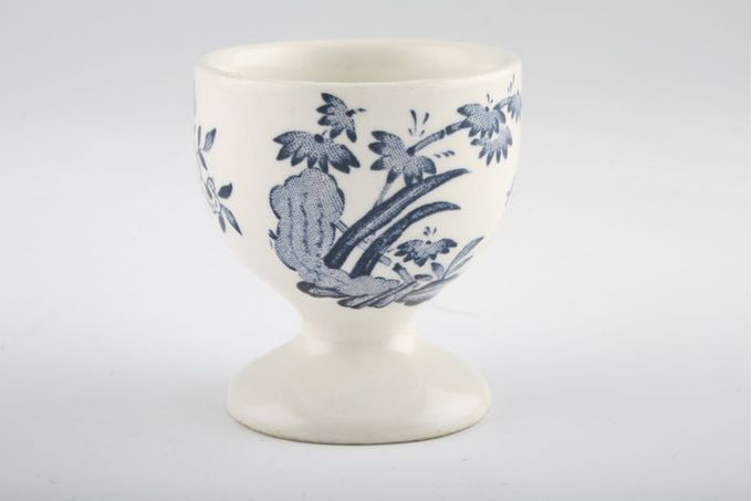 """Furnivals Old Chelsea - Blue Egg Cup footed - no pattern on foot 2"""""""