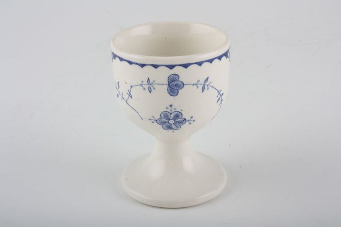 Furnivals Denmark - Blue Egg Cup footed - tall 1 7/8 x 2 5/8""