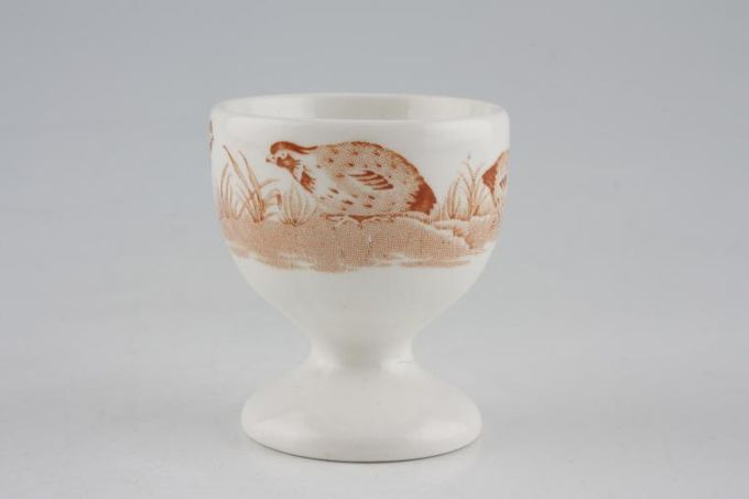 Furnivals Quail - Brown Egg Cup footed 2""