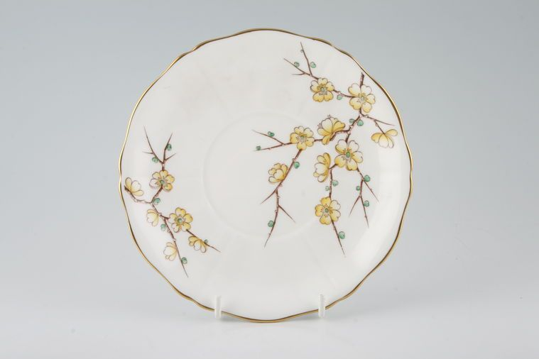 Adderley - Chinese Blossom - Yellow - Soup Cup Saucer