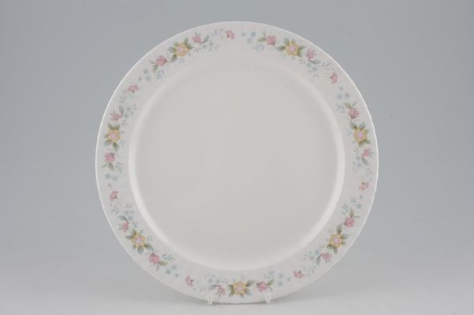"""Hammersley Fluted - Pink + Yellow Flowers Dinner Plate 10 1/4"""""""