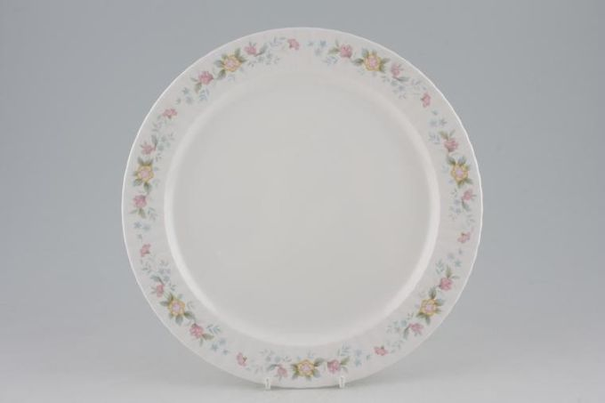 Hammersley Fluted - Pink + Yellow Flowers Dinner Plate 10 1/4""