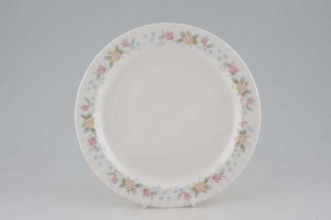 "Hammersley Fluted - Pink + Yellow Flowers Starter / Salad / Dessert Plate 8"""