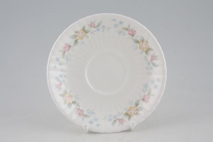 """Hammersley Fluted - Pink + Yellow Flowers Tea Saucer 5 1/2"""""""
