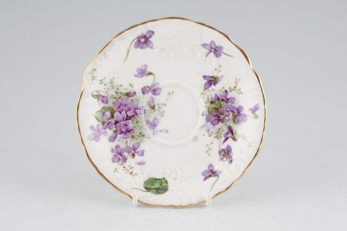 Hammersley Victorian Violets - From Englands Countryside Tea Saucer Relief / Embossed 5 3/4""