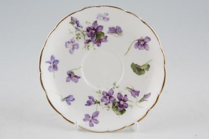 Hammersley Victorian Violets - Crown England Coffee Saucer 4 3/4""