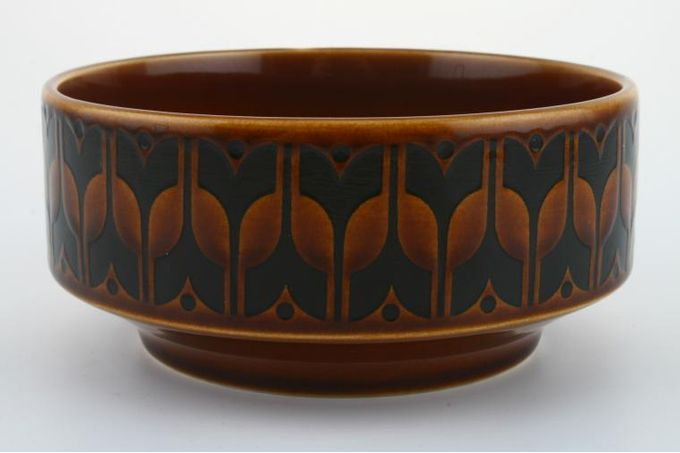 """Hornsea Heirloom - Brown Soup / Cereal Bowl Straight Sides/ Pattern on Outside 5"""""""