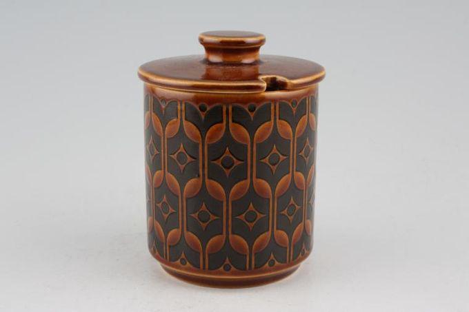 """Hornsea Heirloom - Brown Jam Pot + Lid 3 1/8 x 3 1/2"""""""