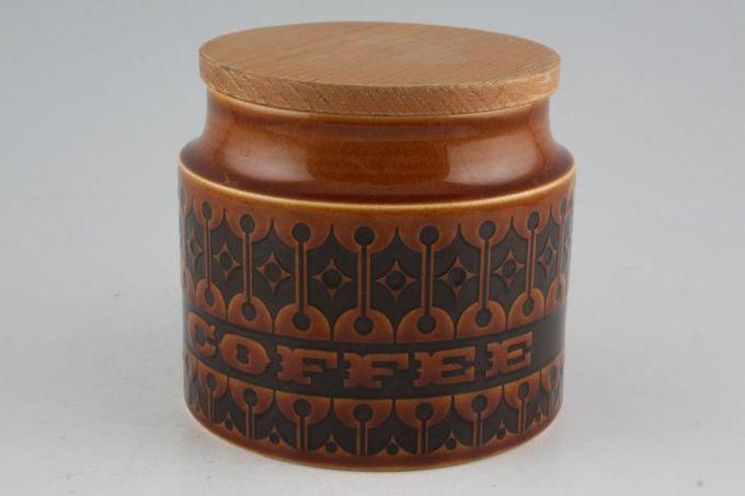 """Hornsea Heirloom - Brown Storage Jar + Lid Size represents height. Coffee 4"""""""